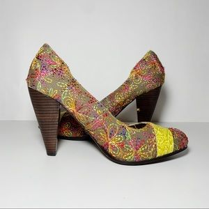 Naughty Monkey Multi-Color Stitching Pumps